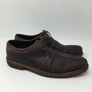Cole Haan Men's Brown Nubuck Leather Oxfords Shoes
